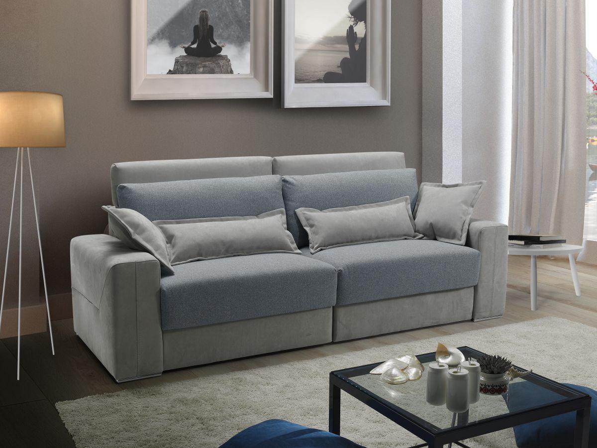 Divano relax contenitore bicolore made in Italy - Lanzarote