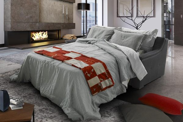 Divano letto nero made in Italy