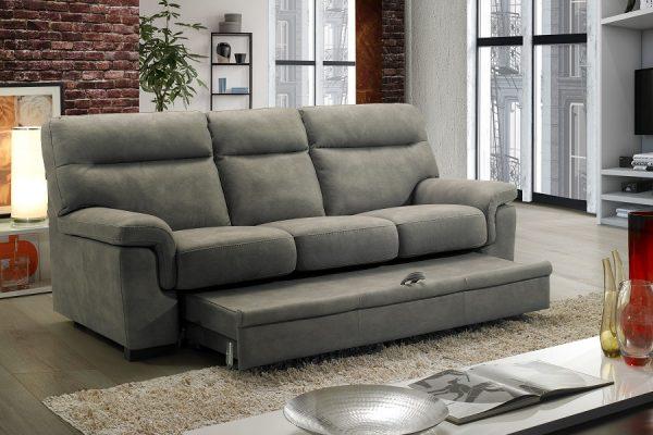 Divano letto contenitore grigio made in Italy