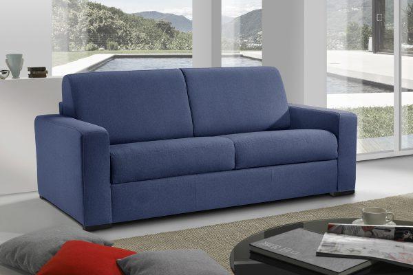 Divano letto maxiseduta blu made in Italy