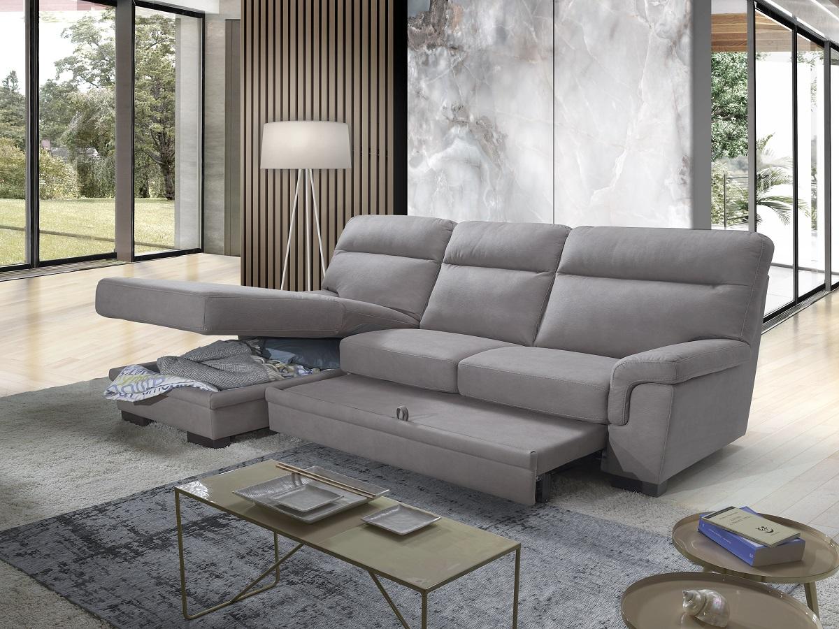 Divano letto maxiseduta contenitore grigio made in Italy