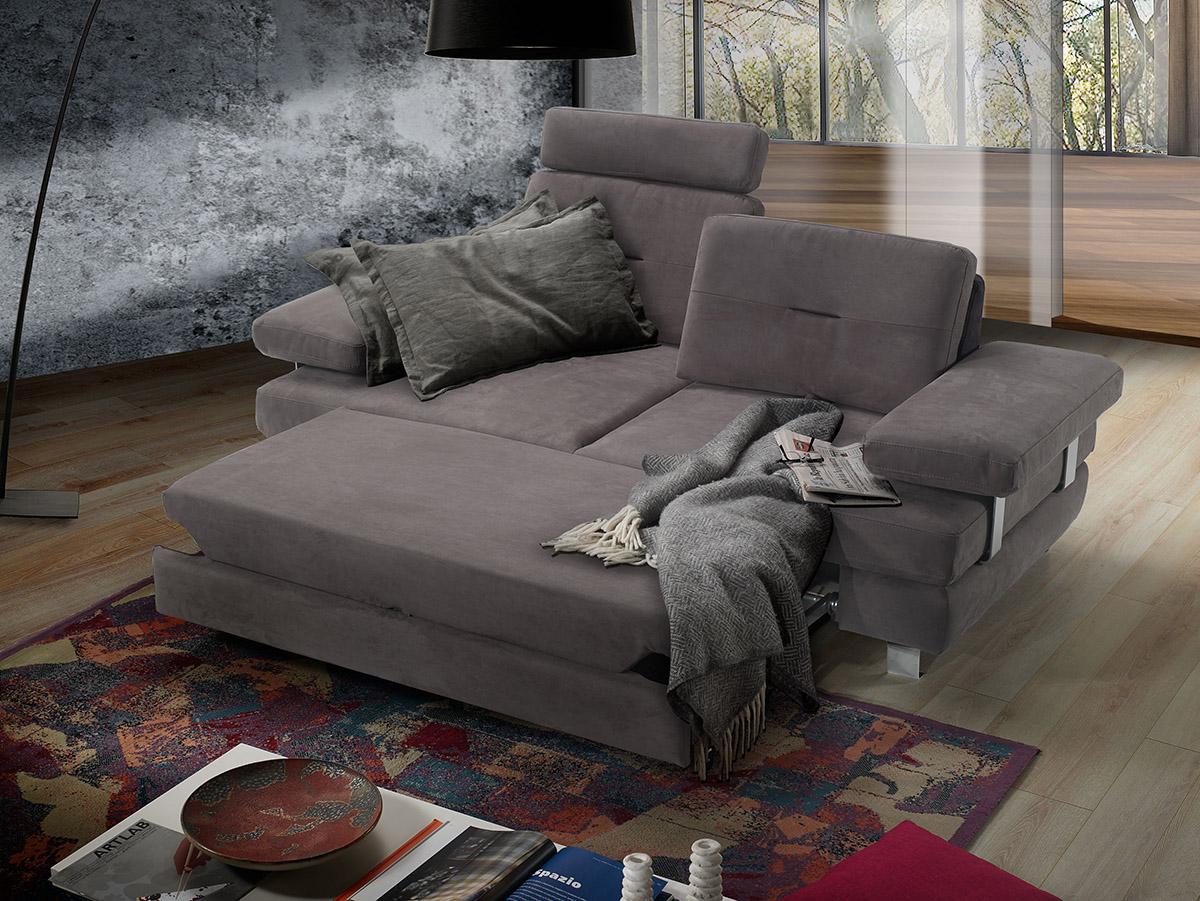 Divano letto maxiseduta grigio made in Italy