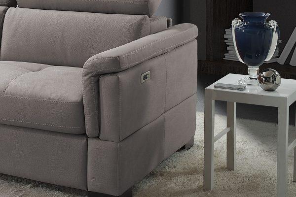 Divano letto relax tessuto antimacchia grigio