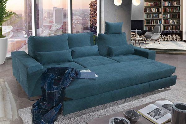 Divano letto contenitore blu azzurro - by Federici Sofà