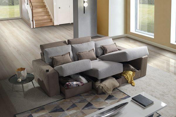 Divano relax tre posti contenitore made in Italy - by Federici Sofà