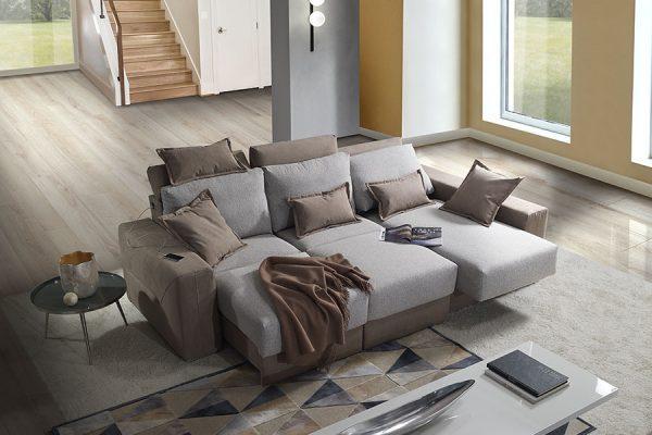 Divano relax tre posti contenitore made in Italy
