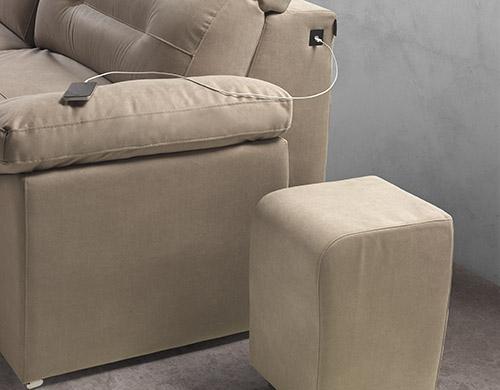 Divano relax tessuto antimacchia made in Italy - Alwxander