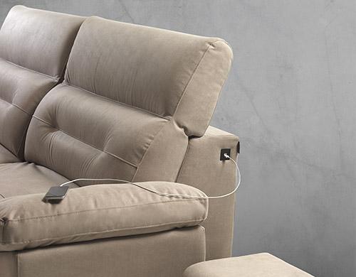 Divano relax tessuto antimacchia made in Italy - Alexander