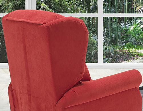 Poltrona relax rossa made in Italy - Onda