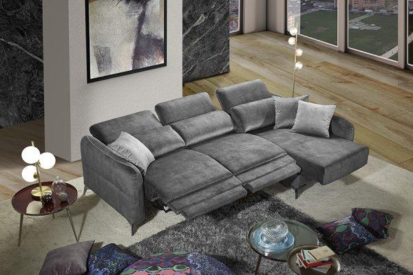 Divano relax grigio made in Italy