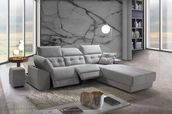 Divano relax contenitore grigio made in Italy - Paros