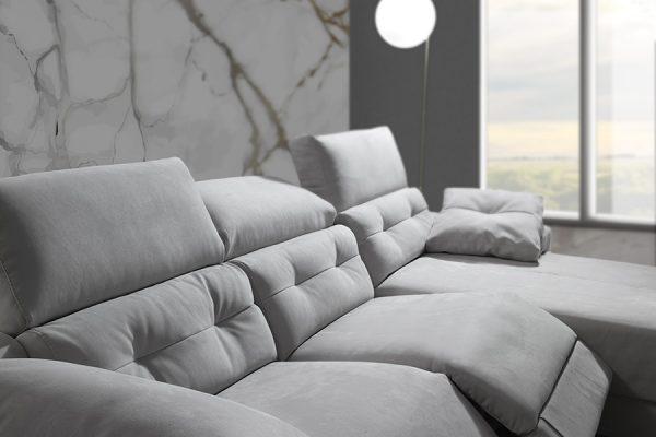 Divano relax grigio made in Italy - Paros