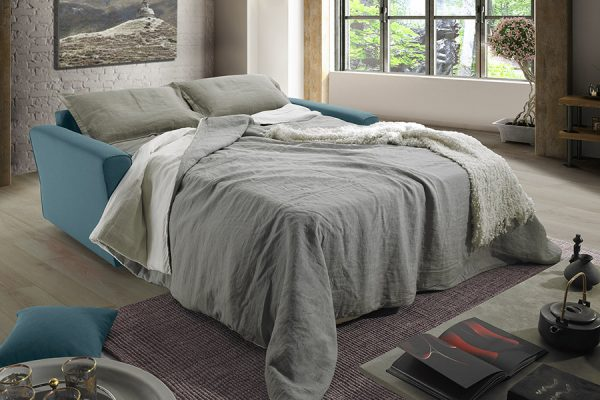 Divano letto turchese made in Italy - Lipari
