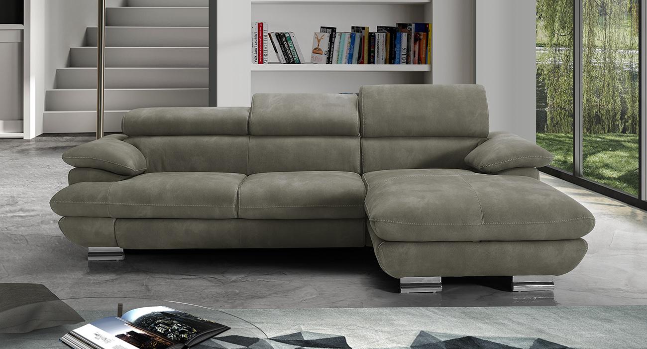 Divano letto maxiseduta contenitore grigio made in Italy - Montecristo