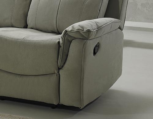 Divano grigio relax 2 posti antimacchia made in Italy - Dea