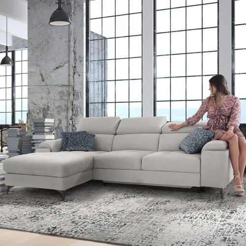 Divano letto bianco maxiseduta contenitore relax made in Italy - Eden